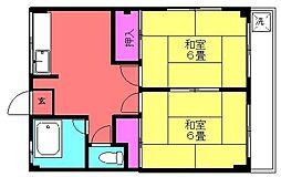第二コーポサンフラワー[203号室号室]の間取り