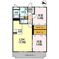 KAKU BLD II[1階]の間取り