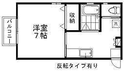 コーポ川西[2階]の間取り