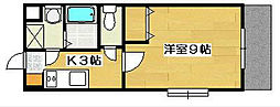 カウベルⅡ[2階]の間取り