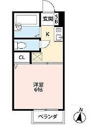 ロイヤル大岡[2階]の間取り