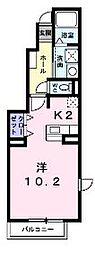 香川県丸亀市土器町西7丁目の賃貸アパートの間取り