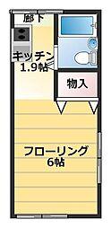 東京都世田谷区北烏山4丁目の賃貸アパートの間取り