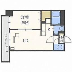 北海道札幌市東区北二十八条東16丁目の賃貸マンションの間取り