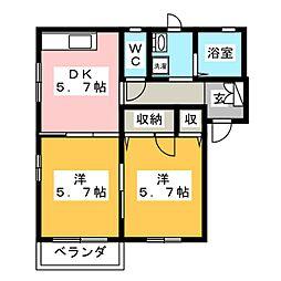 ブエナ雁宿[2階]の間取り