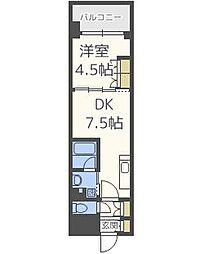 ザ・パークハビオ天満橋[6階]の間取り