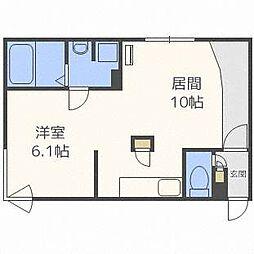 北海道札幌市北区北二十二条西5の賃貸マンションの間取り