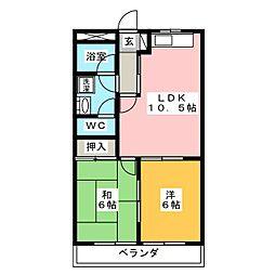 エクセル若宮[4階]の間取り