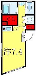 JR山手線 池袋駅 徒歩11分の賃貸マンション 3階ワンルームの間取り