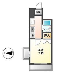 愛知県名古屋市昭和区広路通5丁目の賃貸マンションの間取り