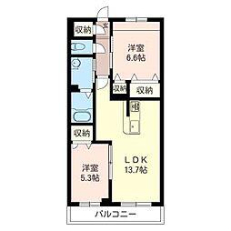 仮)五所マンション[303号室号室]の間取り