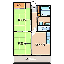 フェリス武庫之荘[3階]の間取り