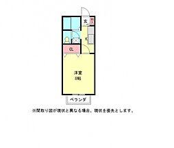 愛知県小牧市大字久保一色の賃貸アパートの間取り