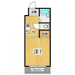 メゾンドール21[1階]の間取り