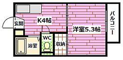 広島県安芸郡海田町昭和町の賃貸アパートの間取り