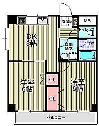 ファランドール3[4階]の間取り