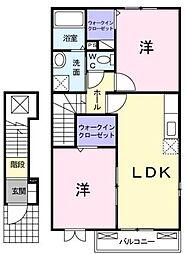 ラフォンテーヌ  A・B棟[2階]の間取り