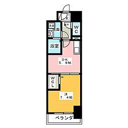 グランパークタワー[4階]の間取り