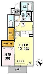 ピッコロカンポ[1階]の間取り