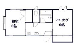 東京都世田谷区深沢5丁目の賃貸アパートの間取り