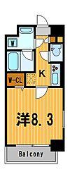 ウィステリア横浜[5階]の間取り