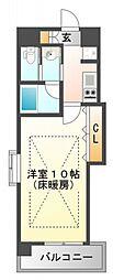 W.O.B江坂(ウォブ江坂)[604号室号室]の間取り