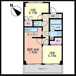フレックス湘南石川[5階]の間取り
