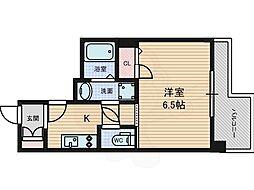 プレサンス錦プレミアム 8階ワンルームの間取り