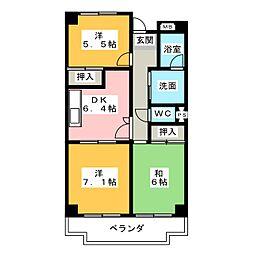 ハイネス相川[2階]の間取り