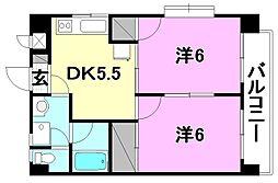 プチメゾン竹内II[206 号室号室]の間取り