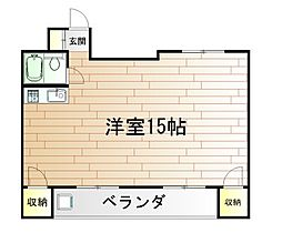 内山第27ビル[9階]の間取り