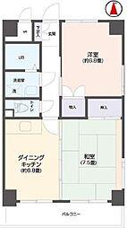リビングステージ南仙台[8階]の間取り