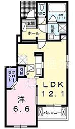 サニーガーデン B[1階]の間取り