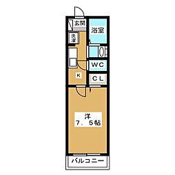 エミネンス西京極[2階]の間取り