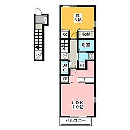 プラシードK[2階]の間取り