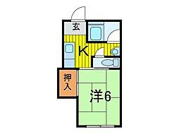 西川口ハイツ[2階]の間取り