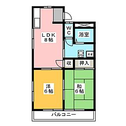 氏永ハイツ[1階]の間取り