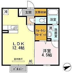 ラフィネ新開[2階]の間取り