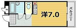 ニュー石山寺マンション[3階]の間取り
