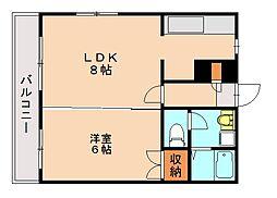 ドゥミル田島[5階]の間取り