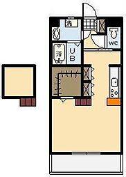 (新築)神宮外苑 西棟[203号室]の間取り