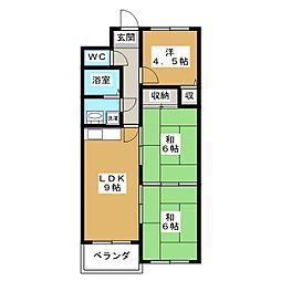 ドミール東寺[6階]の間取り