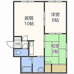 北海道札幌市西区西町南15丁目の賃貸アパートの間取り