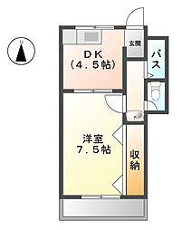 愛知県清須市朝日五条の賃貸アパートの間取り