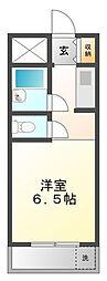 ハイツ冨久井II[3階]の間取り