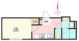 霞南口ビル[3階]の間取り