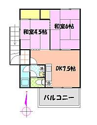 関口第6ビル[201号室]の間取り
