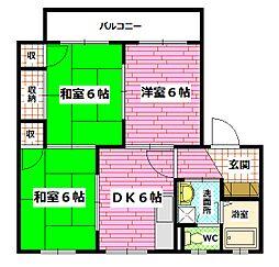 ラルジュ瀬戸 B棟[1階]の間取り