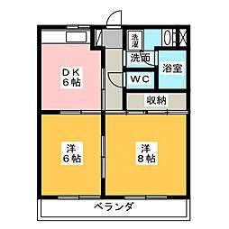 ウィステリアII[3階]の間取り