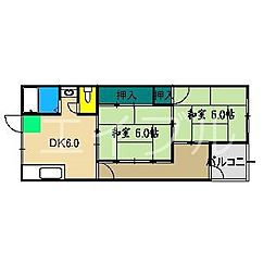 西村マンション(宝町)[3階]の間取り